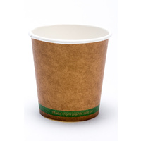 4oz Kraft Single Wall Cups x 1000